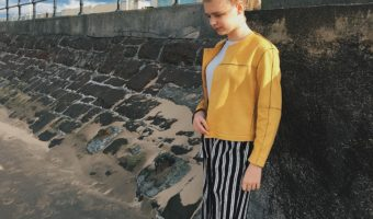 Facing My Fashion Fears; Yellow Suede & Striped Culottes