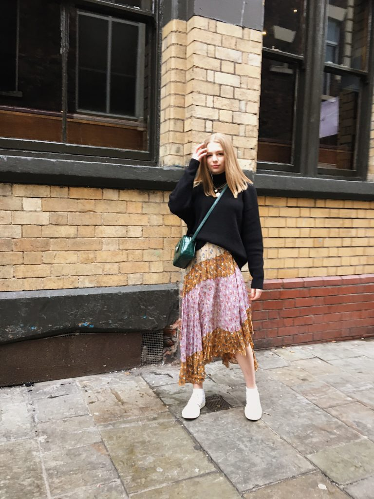 Styling the patchwork skirt